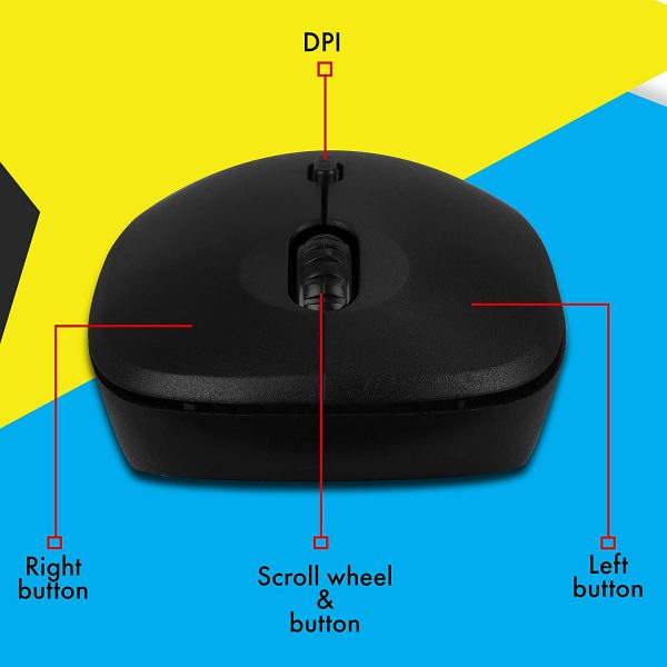 Zebronics Zeb-Bold 2.4GHz Wireless Optical Mouse with High Precision